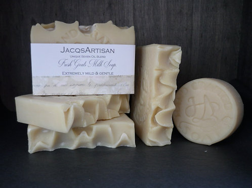 Unfragranced goats milk soap 120g bar