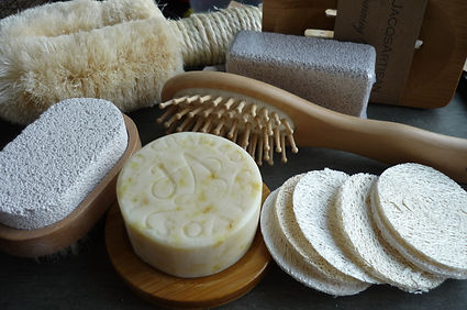 Selection of eco friendly bathroom accessories