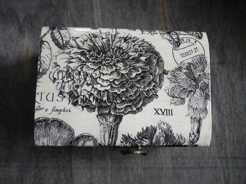 Black & White Botanicas Decoupage Box
