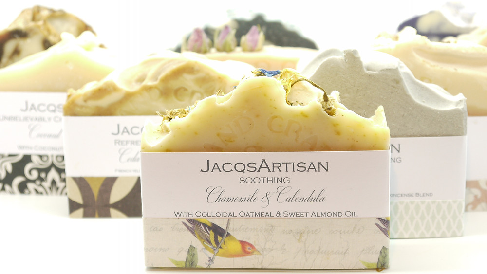 A selection of JacqsArtisan soaps