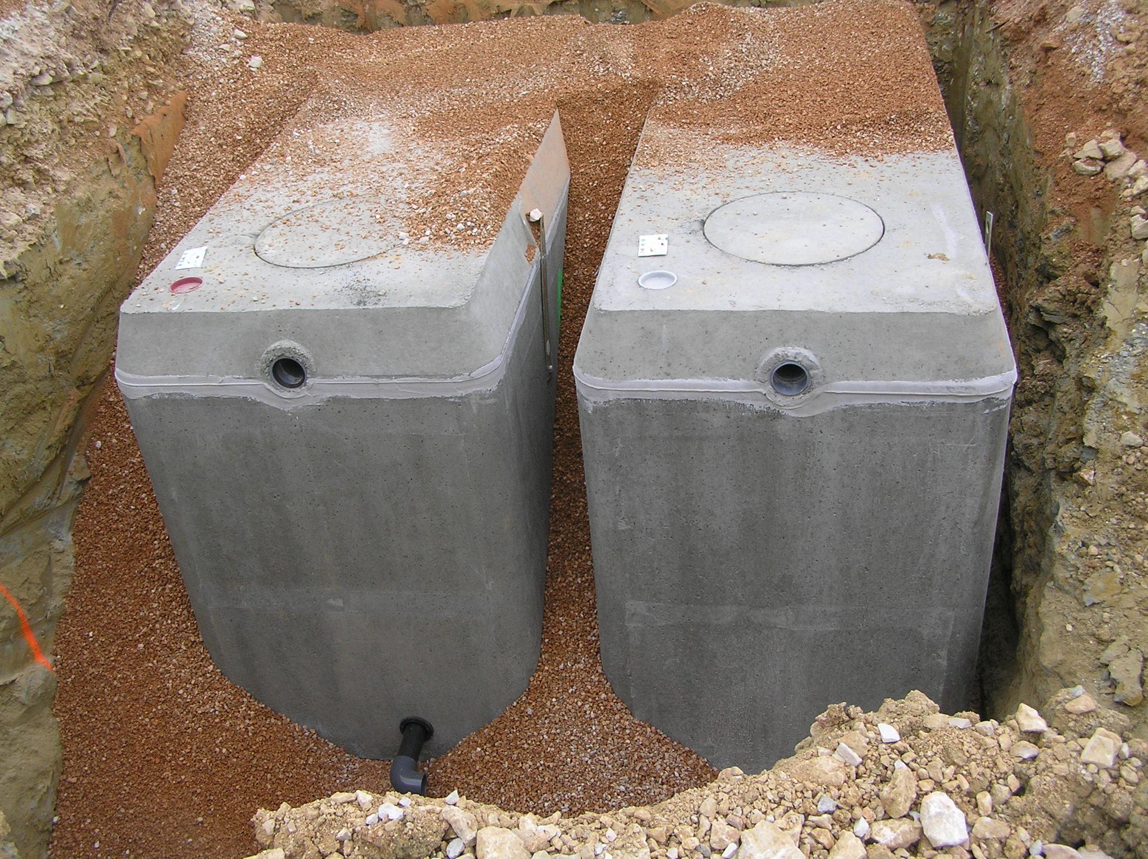 Récupération eau de pluie Cuve béton