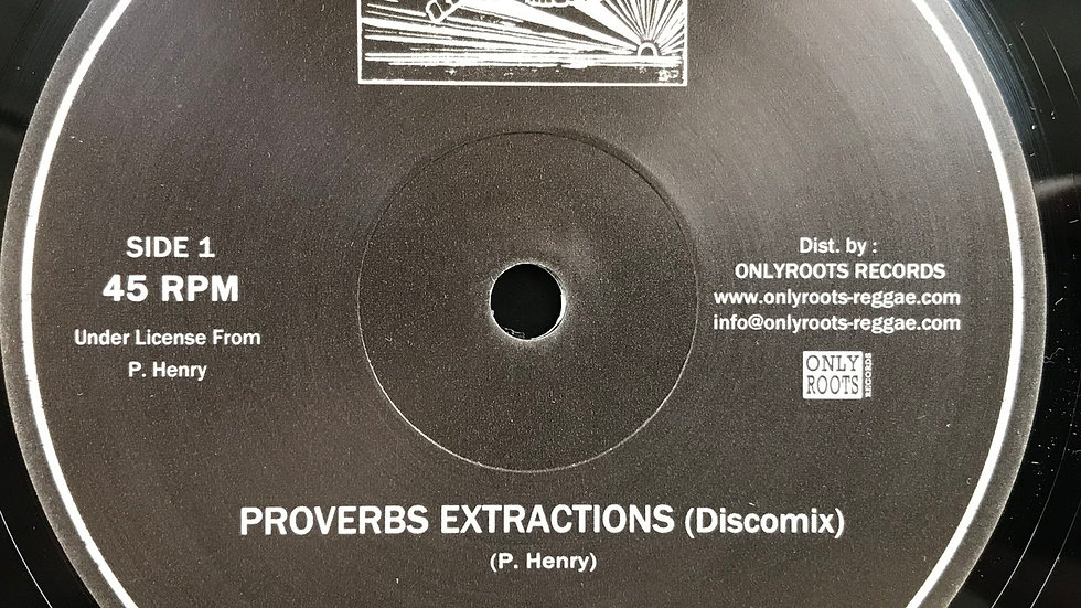 Pablo Moses ‎– Proverbs Extraction / Music Is My Desire