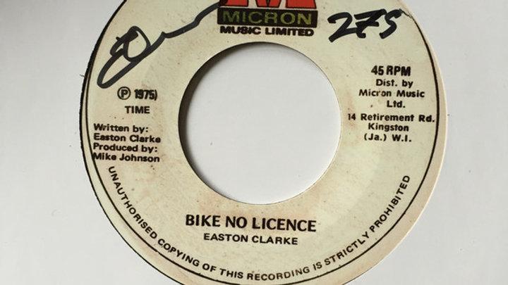 Easton Clarke–Bike No License