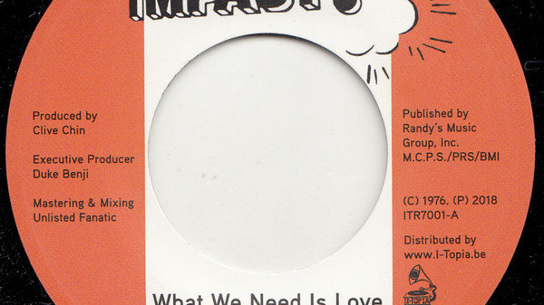 Collieman–What We Need Is Love
