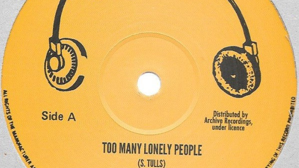 Steve Tulls,Boom Back–Too Many Lonely People / Road Block