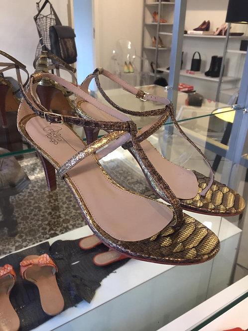 Sandália Python Ouro Velho