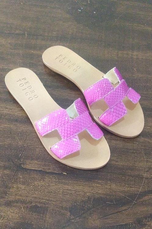 Flat Lila Python Pink