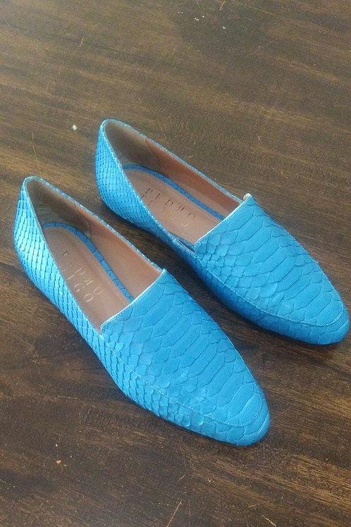 Loafer Python Azul Cristal