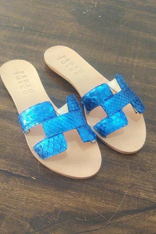 Flat Lila Python Azul Irudin