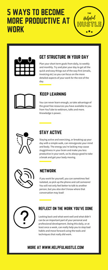5 ways to be productive infographic