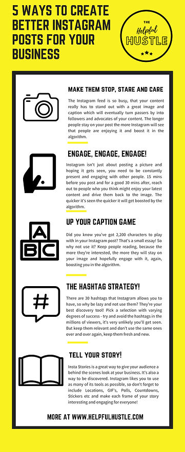 How to Create Better Instagram Posts infographic