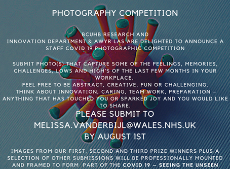 BCUHB Research and Innovation Department Photographic Competition 2020 – kindly support by Awyr Las.