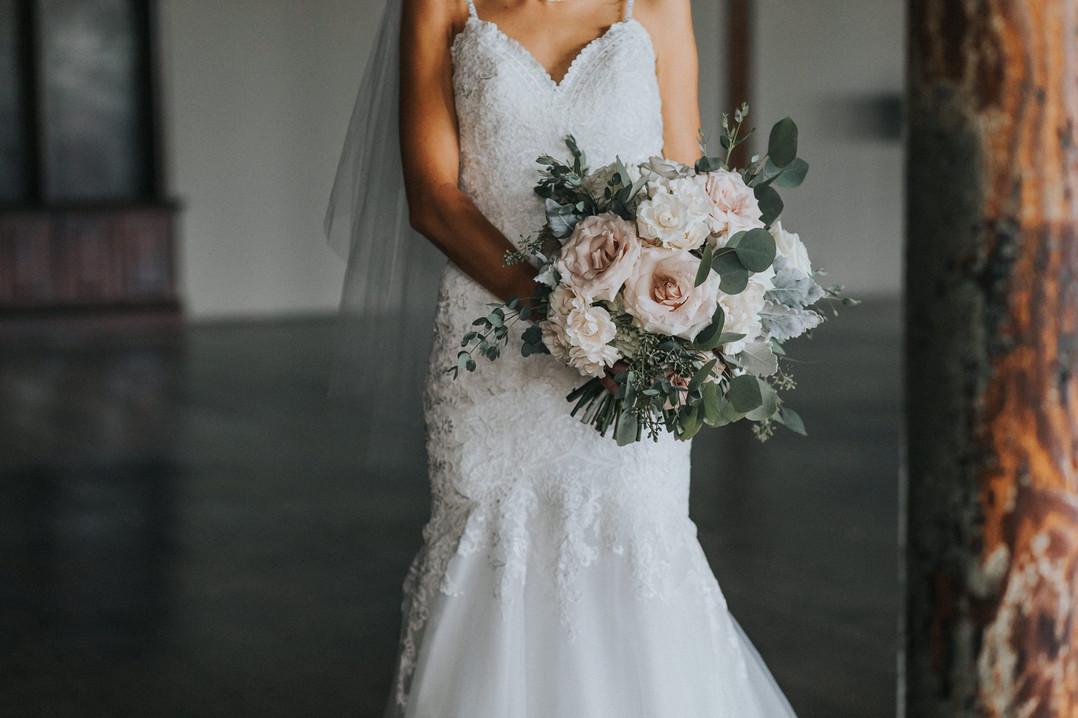 Whitney & Daniel  | McKinney Cotton Mill |       Industrial Chic Wedding