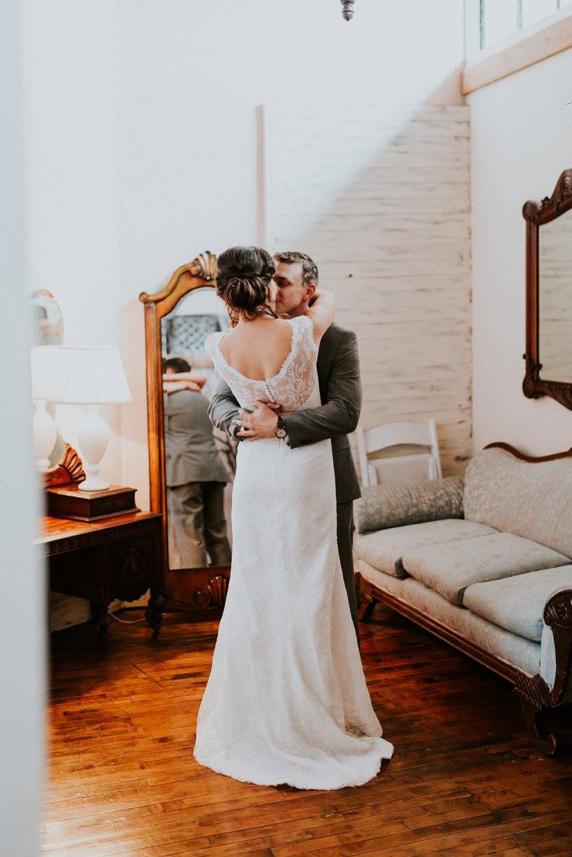 Kalina & Caleb | McKinney Flour Mill   |                       Lush Greenery Wedding