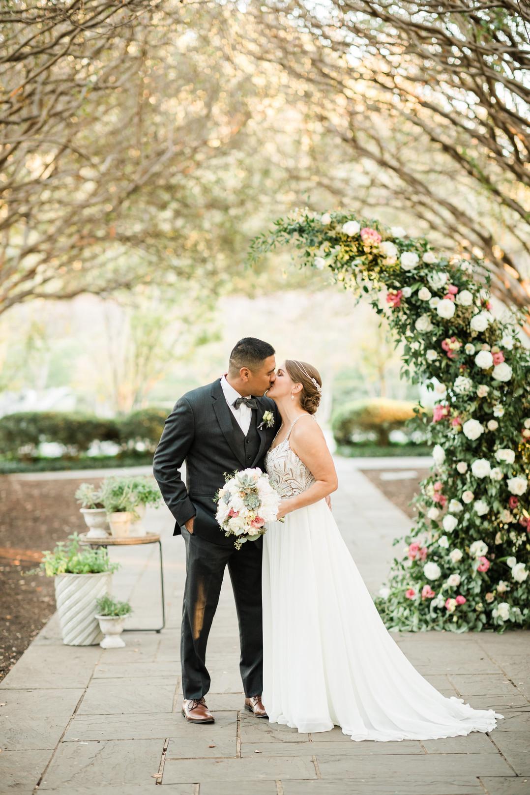 Lizzie & Gil | The Dallas Arboretum | Micro Wedding Ceremony
