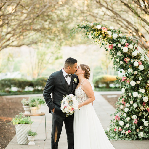 Lizzie & Gil | The Dallas Arboretum | Micro Wedding Ceremony