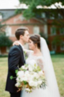 Dallas Bride in wedding gown