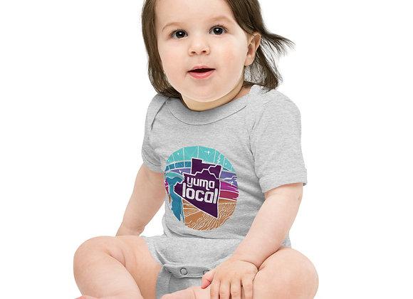Yuma Local Purple Logo Baby short sleeve one piece