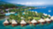Intercontinental-Tahiti-aerial-overwater