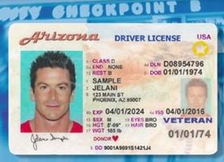 Arizona Residents : Travel ID Information