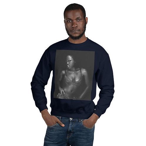 Curvy Model Crew Neck Sweatshirt
