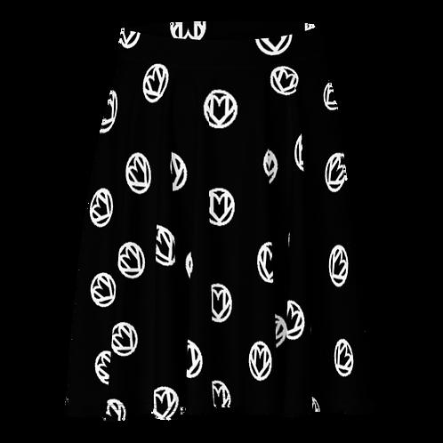 Logo'd Out Skater Skirt