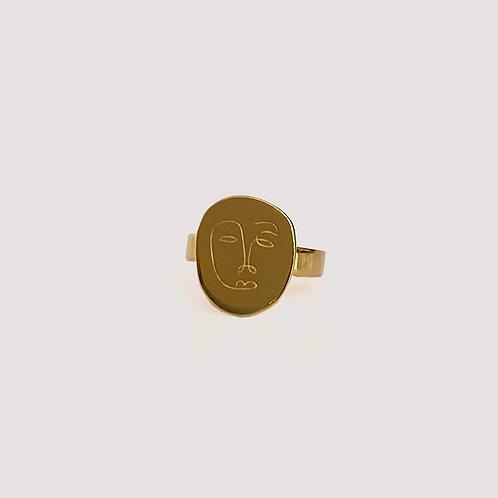 Okame Flat Gold Ring