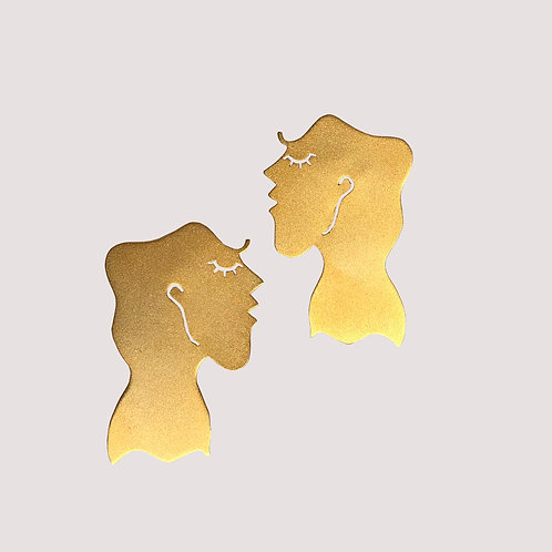 Tyche Gold Earring