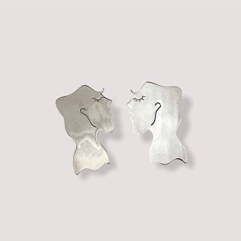 Tyche Silver Earrings