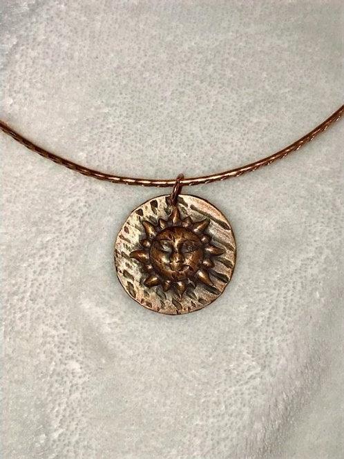 Copper Sun on a Copper Wire Choker