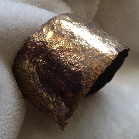Large Hammered Brass Cuff Bracelet