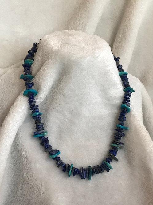 Lapis Lazuli with Turquoise Necklace