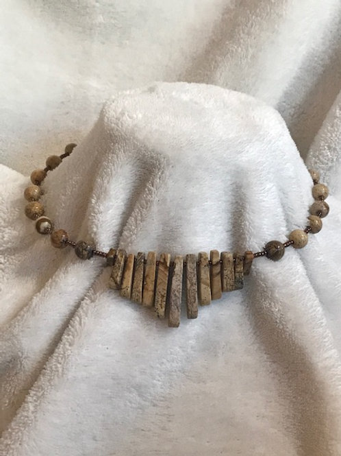 Picture Jasper Fan Choker