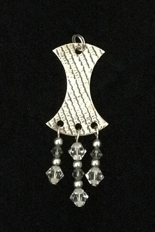 Striped Silver Pendant