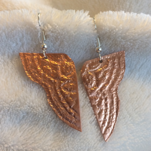 Copper Angel Wing Earrings