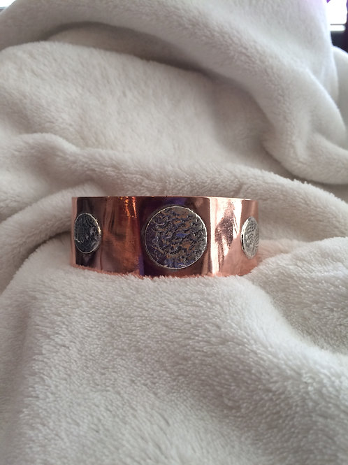 Copper with Silver Cuff Bracelet