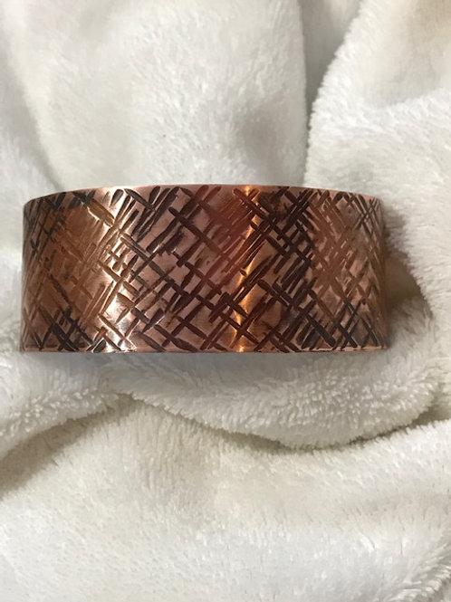 Hand Hammered Copper Cuff Bracelet size 6