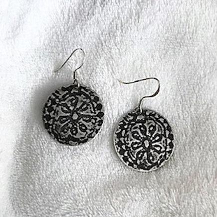 Flower Lace Sterling Silver Earrings