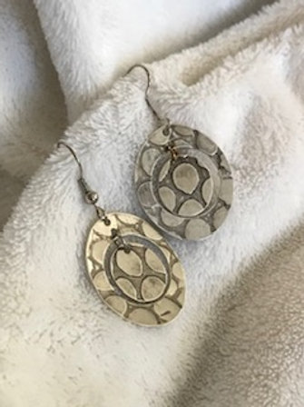 Sterling Silver Circle and Disc Earrings