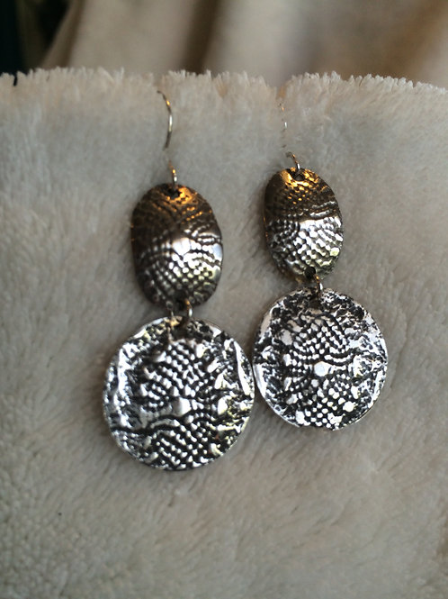 Sterling Siler Patterned Earrings