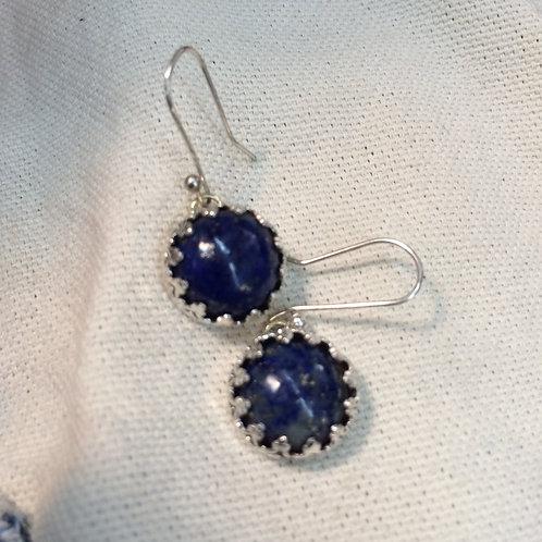 Lapis Lazuli Earrings in Sterling Silver