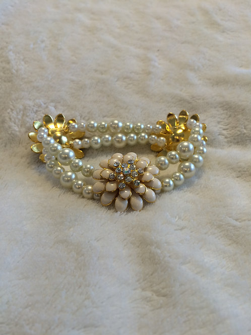 Enameled Flower Bracelet