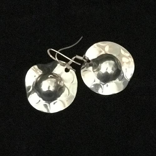 Silver Hat Earrings
