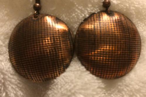 Copper Dome Earrings