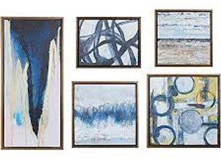 Blue Bliss Gallery Art 5 Piece Set