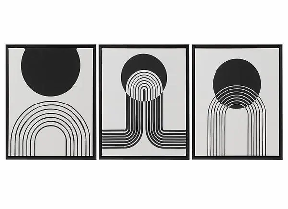 Cosmic Curl Framed Canvas Set