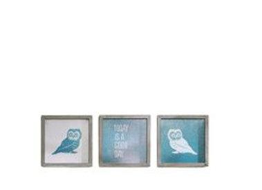 Wise As An Owl Framed Set