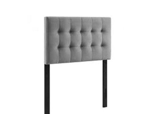 Lily Buscuit Tufted Headboard-GRY