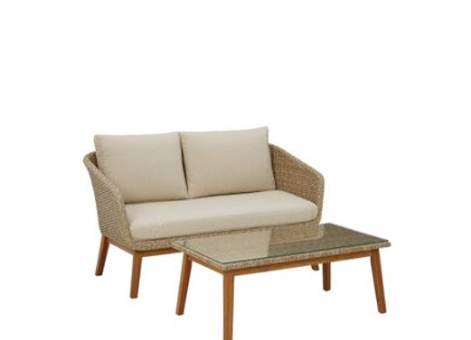 Crystal Cave Loveseat with Table