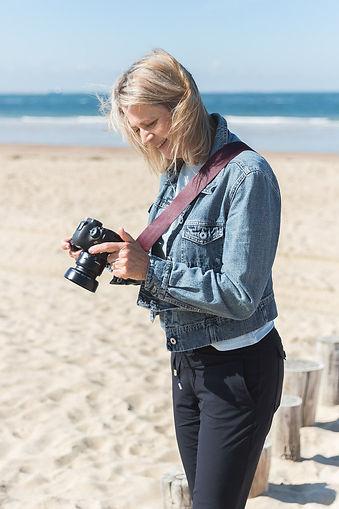 Fotograaf Angelique aan het werk